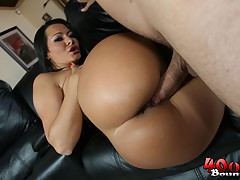 Busty Latina Sandra shows off her big round ass [4 movies]