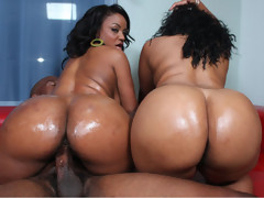 Double 0 negro fucks two hot black bitches! [3 movies]
