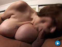 MILF with big freaky boobs gets her wet tight snatch ripped in half! [3 movies]