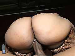Big booty black girl Cherokee bounces her huge ass on a big cock [3 movies]