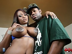 Jada Fire gets her big black ass 40 oz bounced [4 movies]