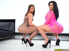 Fucking hot ass fishnet ass duo banged hard against the stairwell hot fucking cumfaced sex pics [12 pictures]