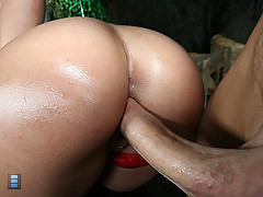 Stacked slut Charley Chase bounces her huge ass on a hard cock [3 movies]