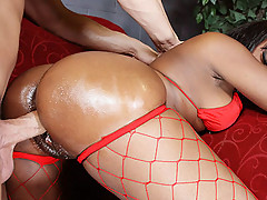 Big booty black chick strips and fucks at a party [4 movies]