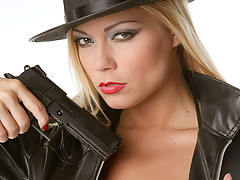 Black hat, boots and gun [15 pictures]