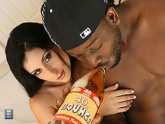 Busty latina Luscious Lopez gets a 40 poured on her big ass [3 movies]