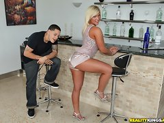 Smoking ass big tits blonde bent over and fucked over the bar stool hot ass cumshot party [12 pictures]