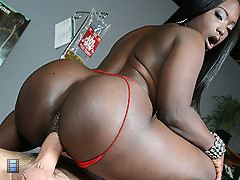 Big booty black girl fucks a couple guys at a party [4 movies]