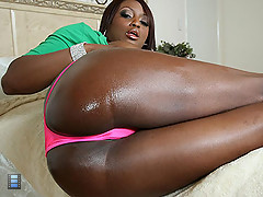 Curvy black girl strips and her huge ass on a big cock [3 movies]
