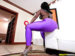 Super hot sexy big ass leggings black babe fuked hard against the couch real pick up and fuck pov sex [12 pictures]