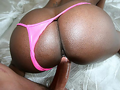 Busty ebony Jada Fire gets a 40 poured on her big ass [3 movies]