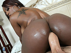 Trashy black girl Jada Fire with huge ass fucks a couple guys outside [3 movies]