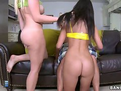 Two sexy big booty babes by the name of amy and brittany harper. their going to give some of that good pussy and juicy asses to maty.. [4 movies]